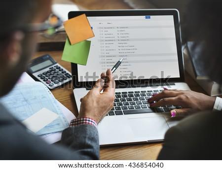 Team Partner Business Discussion Communication Concept - stock photo