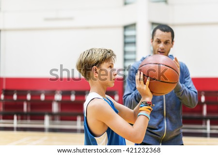Team Teamwork Basketball Training Game Concept - stock photo