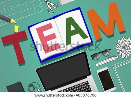 Team Teamwork Partnership Alliance Unity Concept - stock photo