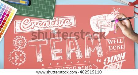 Team Teamwork Partnership Collaboration Concept - stock photo