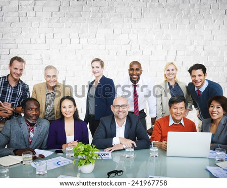 Team Teamwork Togetherness Community Connection Variation Unity Concept - stock photo
