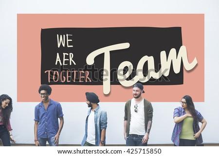 Team Teamwork Togetherness Union Partnership Concept - stock photo