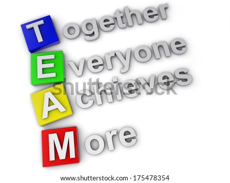 Team, Together everyone achieves more - stock photo