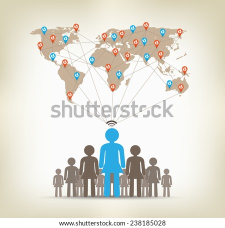 Team women global communication concept stock - stock photo