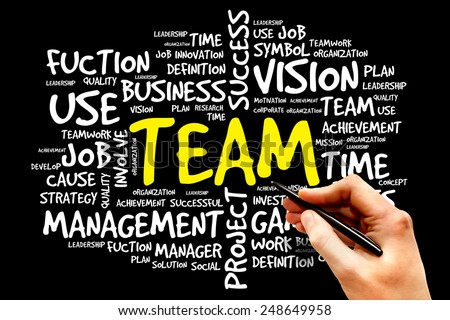 TEAM word cloud, business concept - stock photo