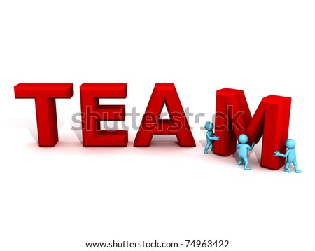 team work - stock photo