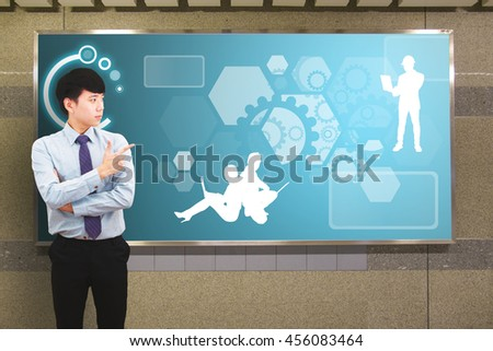 Team work concept : the engineering with the smart idea - stock photo