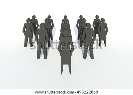 team work ,people work group background isolated 3d rendering