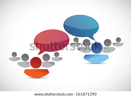 teams communication illustration design over a white background