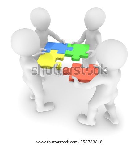 Teamwork and puzzle