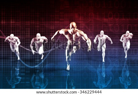 Teamwork and Striving for Success Together in Business - stock photo