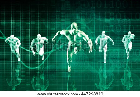 Teamwork and Striving for Success Together in Business 3D Rendering - stock photo