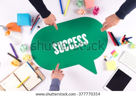 TEAMWORK BUSINESS BRAINSTORM SUCCESS CONCEPT - stock photo