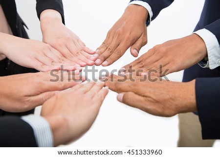 Teamwork business.Businessman people group agreement together.