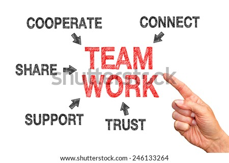 Teamwork - Business Concept - stock photo