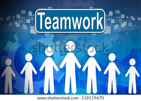Teamwork ,Business concept in word Human resources - stock photo