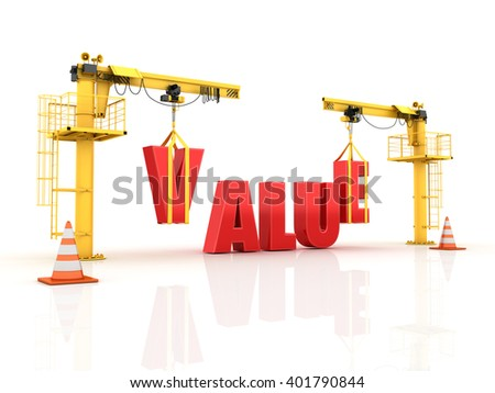 Teamwork Characters Building the BRAND Word  - High Quality 3D Render   - stock photo