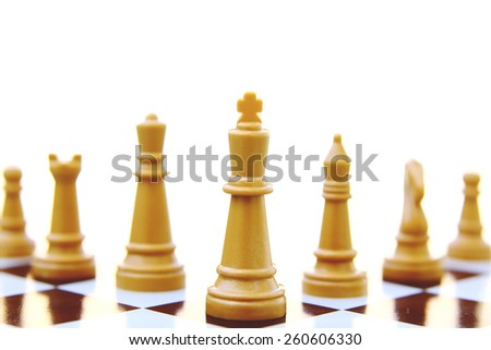 teamwork chess pieces concept  isolated on white background