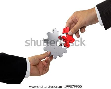 Teamwork concept - stock photo