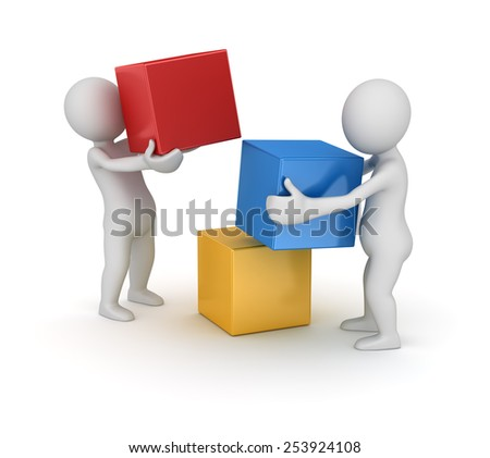 Teamwork concept , computer generated image. 3d rendered image. - stock photo