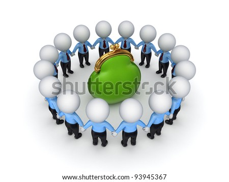 Teamwork concept.Isolated on white background.3d rendered.