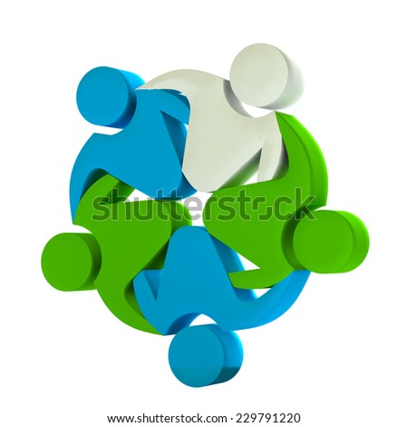 teamwork concept of business,workers,unity,social networking,hug and friendship icon image template - stock photo