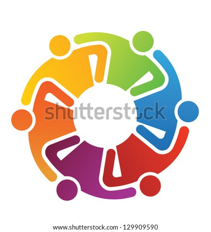 Teamwork Hugging 6 - stock photo
