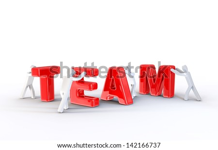 teamwork illustration isolated on a white background
