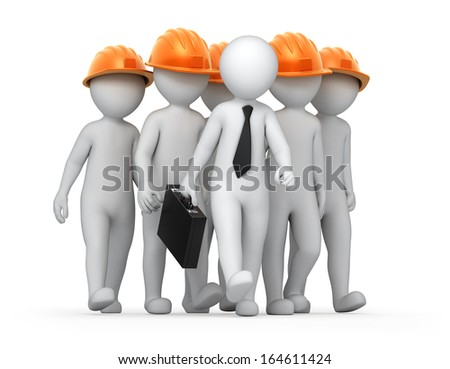 teamwork, image with a work path - stock photo