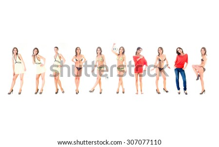 Teamwork Isolated Me and Myself Together  - stock photo