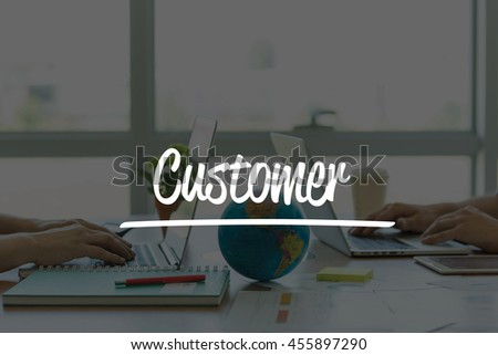 TEAMWORK OFFICE BUSINESS COMMUNICATION TECHNOLOGY  CUSTOMER GLOBAL NETWORK CONCEPT - stock photo