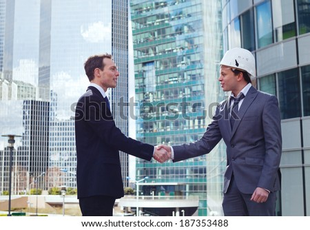 teamwork on new project - stock photo