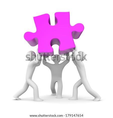 Teamwork success - stock photo