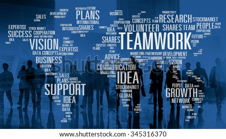 Teamwork Team Collaboration Connection Togetherness Unity Concept - stock photo