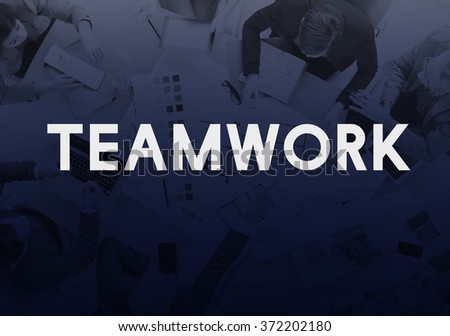 Teamwork Team Union United Cooperation Alliance Concept - stock photo