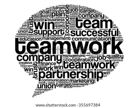 TEAMWORK Think Bubble word cloud, business concept - stock photo