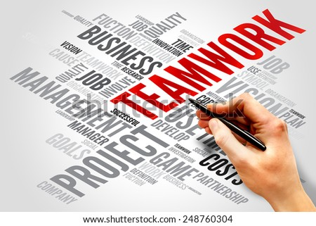 TEAMWORK word cloud, business concept - stock photo