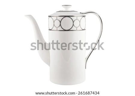 Teapot isolated on white. - stock photo