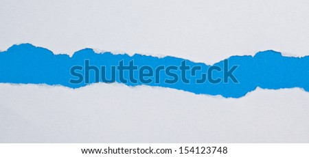 Tear Paper, Blue - stock photo