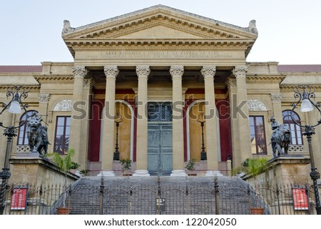 Teatro Massimo is an opera house in Palermo, Sicily, Italy - stock photo