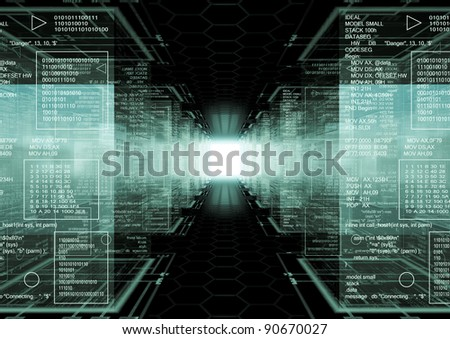 Tech Cubes - stock photo