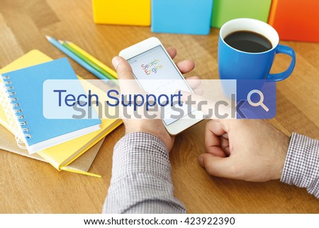 Tech Support Concept - stock photo
