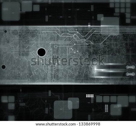 Technical background - stock photo