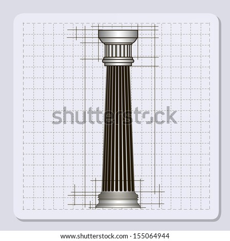 Classic architectural detail roman column close stock for Classic columns paper