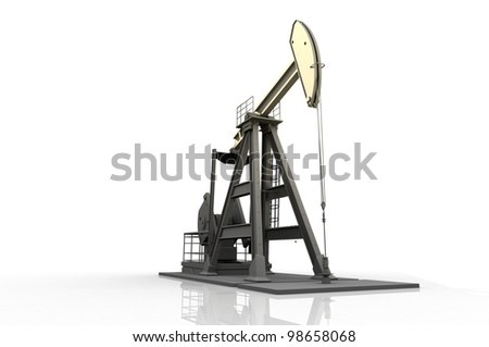 Technique for oil on a white background. - stock photo