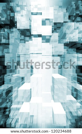 techno background. data flow - stock photo