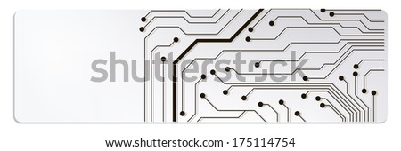 techno circuit web banners. bitmap illustration  - stock photo