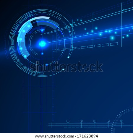 techno electric space  background - stock photo