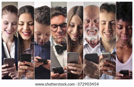 Technological people - stock photo