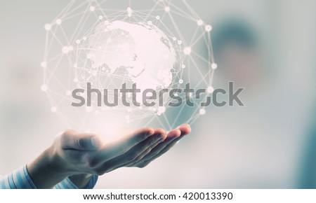 Technologies connecting the world - stock photo
